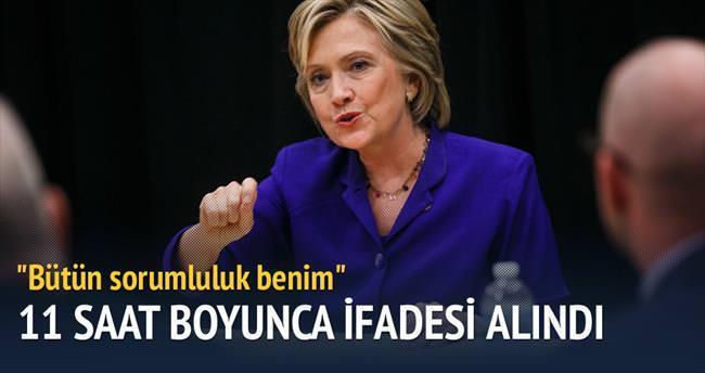 Clinton 11 saat boyunca ifade verdi