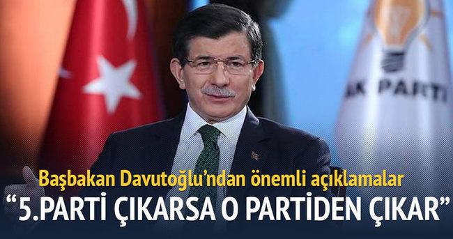 Davutoğlu: 5. parti çıkarsa o partiden çıkar