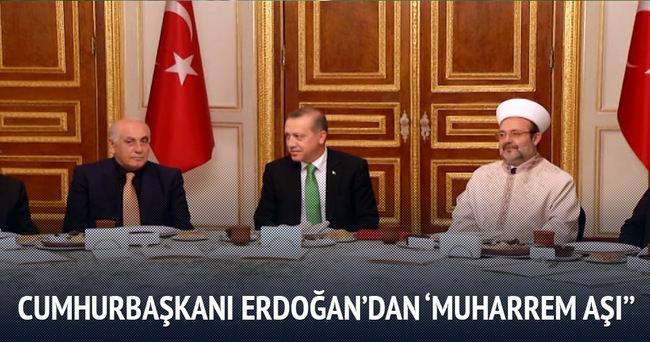 Cumhurbaşkanı Erdoğan, 'Muharrem aşı' verdi