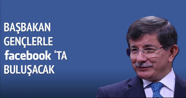 Başbakan Davutoğlu Facebook'ta gençlerle buluşuyor