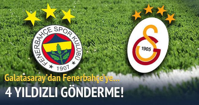 Galatasaray'dan Fenerbahçe'ye yıldızlı gönderme