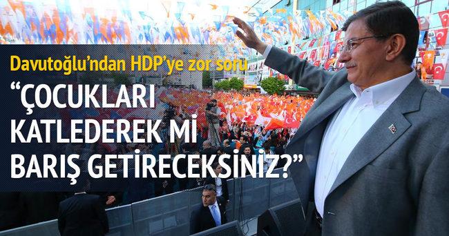 Davutoğlu'ndan HDP'ye zor soru