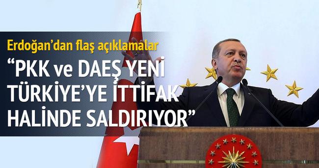 Cumhurbaşkanı Erdoğan: Yeni Türkiye'ye ittifak halinde saldırıyorlar