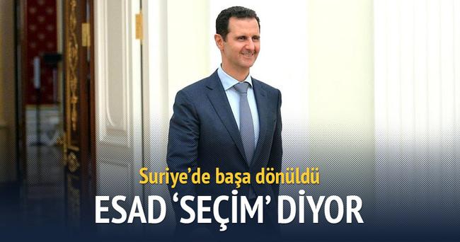 Suriye'de başa dönüldü: Esad 'seçim' diyor