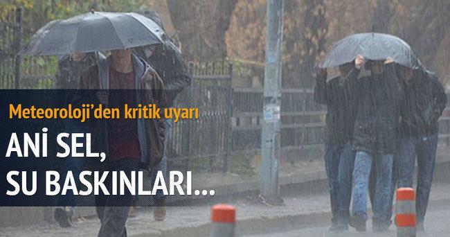 Meteorolojik uyarı! Kuvvetli sağanak yağış geliyor