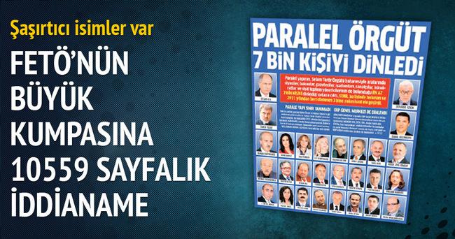 FETÖ'nün kumpasına 10559 sayfalık iddianame!