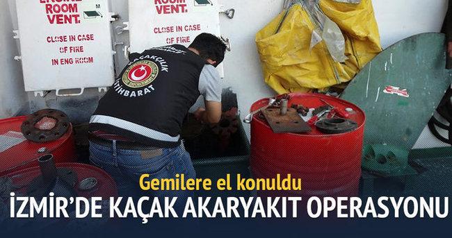 Aliağa Limanı'nda kaçak akaryakıt operasyonu