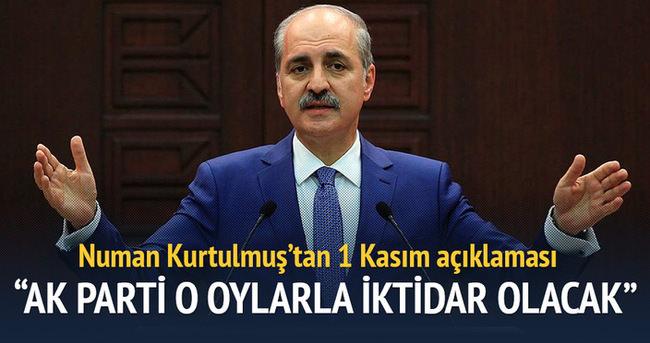 'AK Parti o oylarla iktidar olacak'