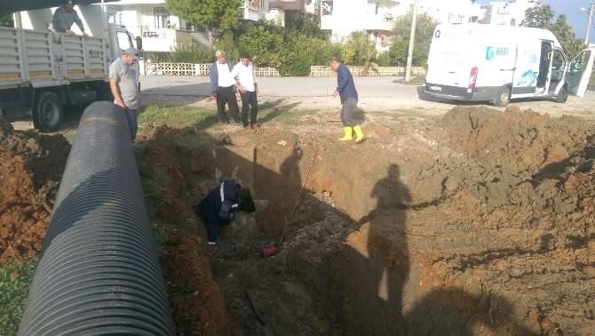 Eksi Hisar Mahallesi'nde Yağmur Suyu Drenaj Hattı Terfi Bağlantısının Olmadığı Belirlendi