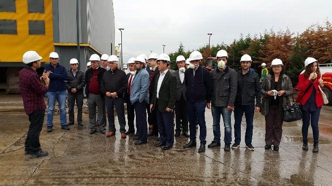 Tekirdağ Büyükşehir Belediyesi Pamukova'daki Biyogaz Tesislerini Ziyaret Etti