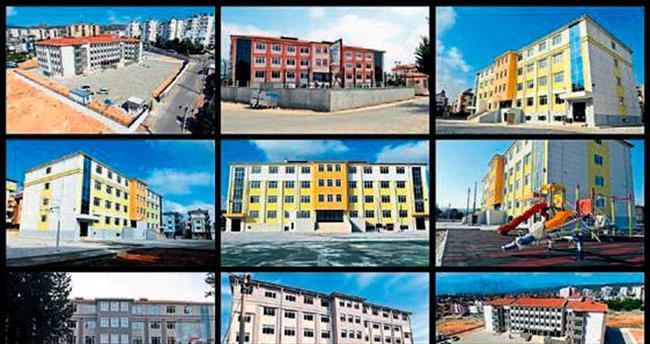 Kepez'e 7 yılda 40 okul 200 milyon lira yatırım