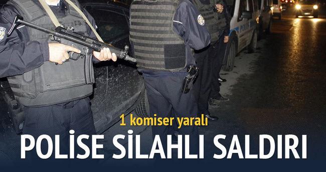 Polise silahlı saldırı: 1 yaralı