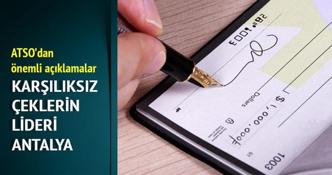 Karşılıksız çeklerin 20 milyonu Antalya'dan