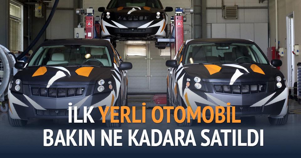 İlk yerli otomobil 5 milyon TL'ye satıldı