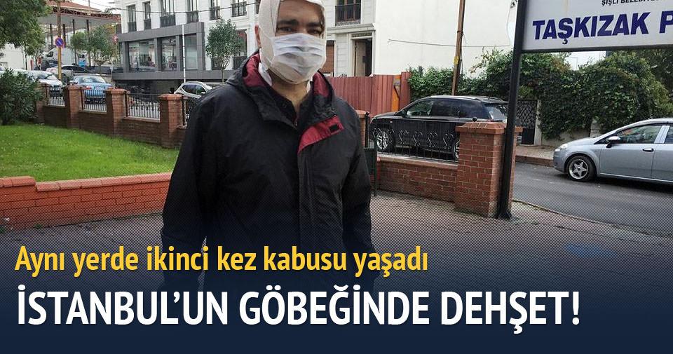 İstanbul'un göbeğinde tinerci dehşeti