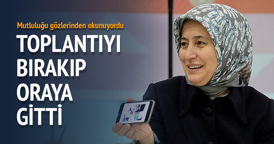 Sare Davutoğlu toplantıyı bırakıp doğuma gitti