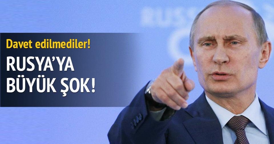 Rusya'yı davet edilmediler!