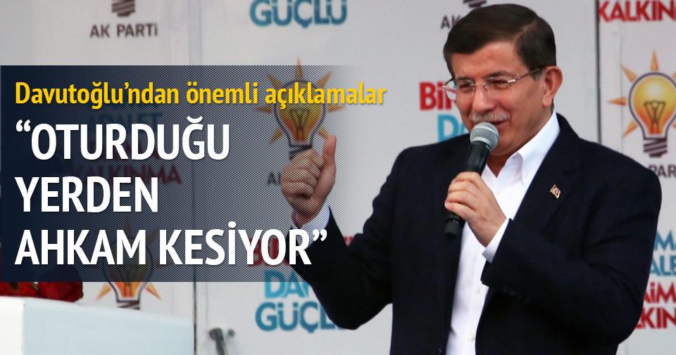 Davutoğlu: AK Parti düşmanlığında birleşiyorlar