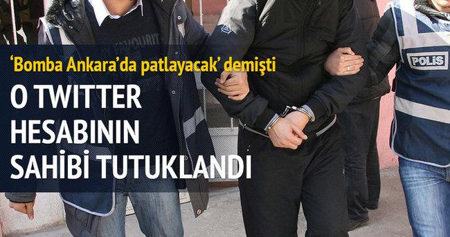 O Twitter hesabının sahibi tutuklandı