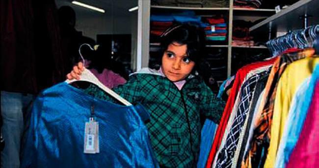 Suriyelilere kışlık kıyafet desteği