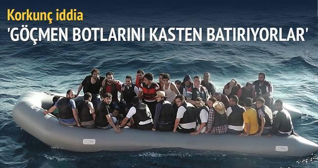 'Göçmen botlarını kasten batırıyorlar'