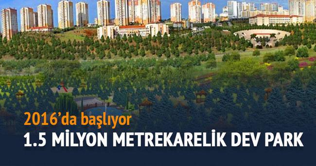 TOKİ, İstanbul'a 1,5 milyon metrekarelik devasa bir park kuruyor