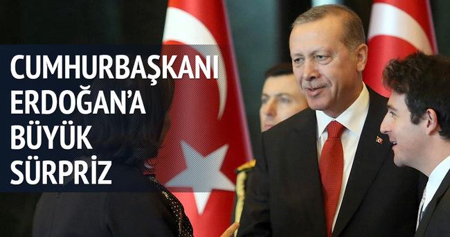 Resepsiyonda Erdoğan'a büyük sürpriz