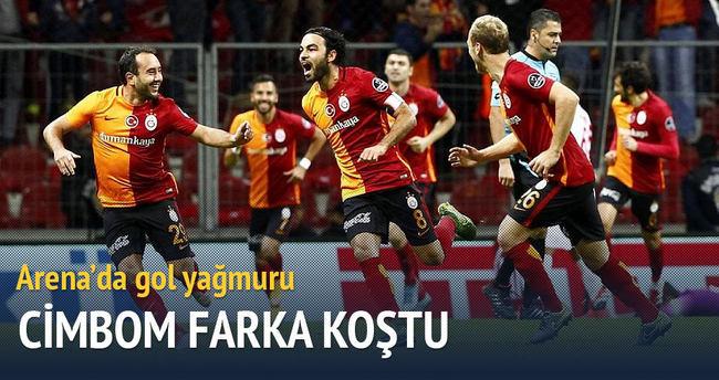 Galatasaray, Eskişehirspor'a gol yağdırdı