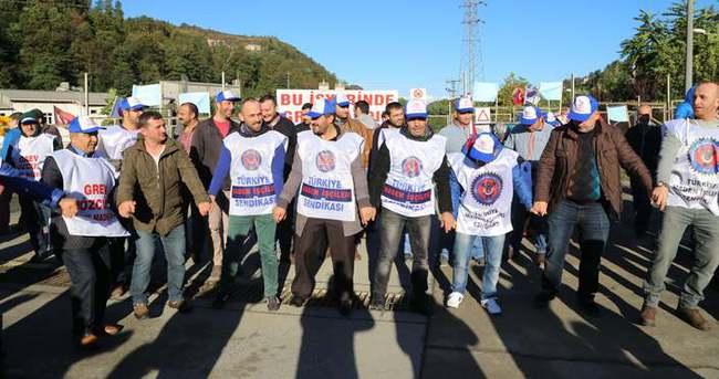 Rize'de 320 işçi grev başlattı!