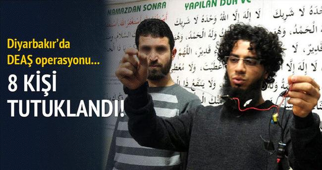 Diyarbakır'daki DAEŞ operasyonunda 8 kişi tutuklandı