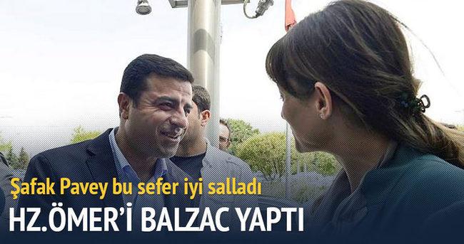 Şafak Pavey, Hz Ömer'i Balzac yaptı