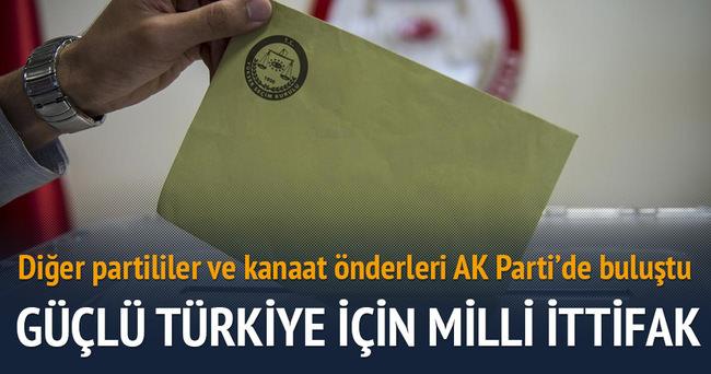 AK Parti'ye destek için birleştiler