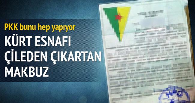 PKK'nın haraç makbuzu bölge esnafını canından bezdirdi