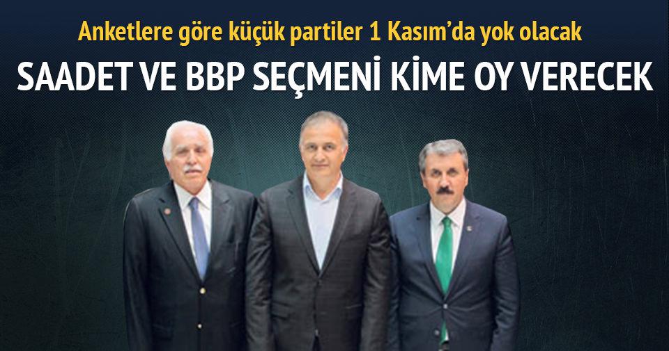 Saadet ve BBP seçmeni kime oy verecek?