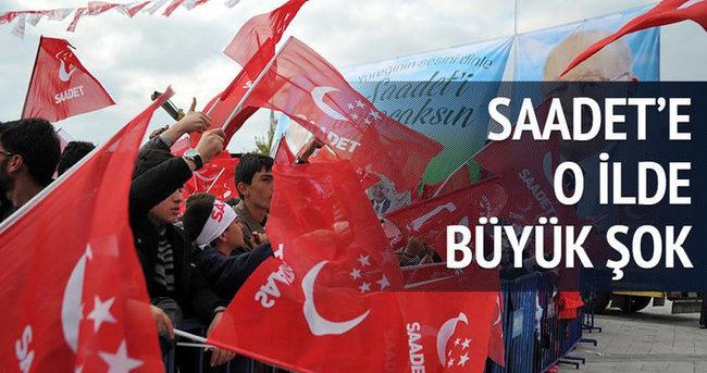 Saadet, Konya'da hüsrana uğradı