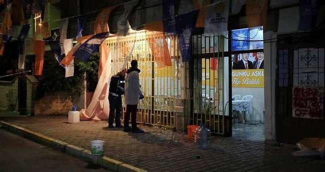 AK Parti seçim bürolarına saldırı