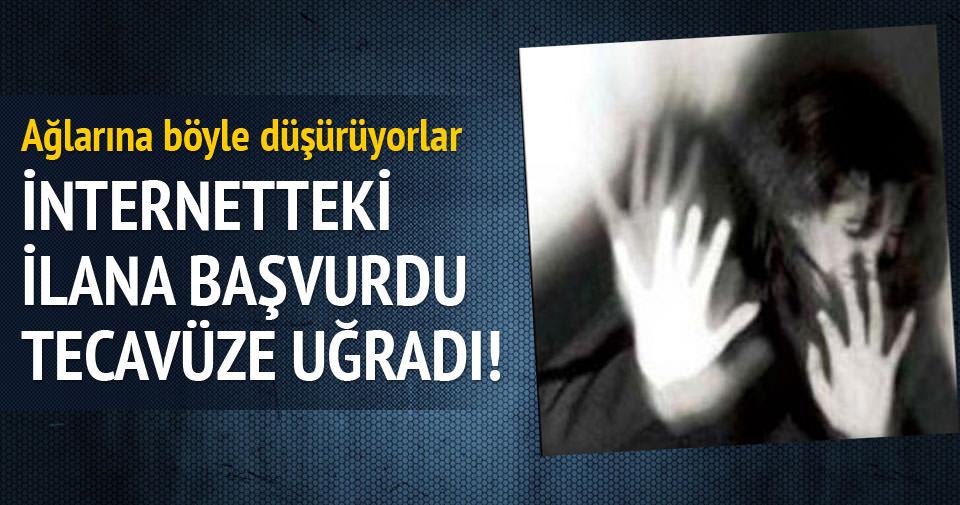 Bakıcı ilanına başvuran kadın tecavüze uğradı!