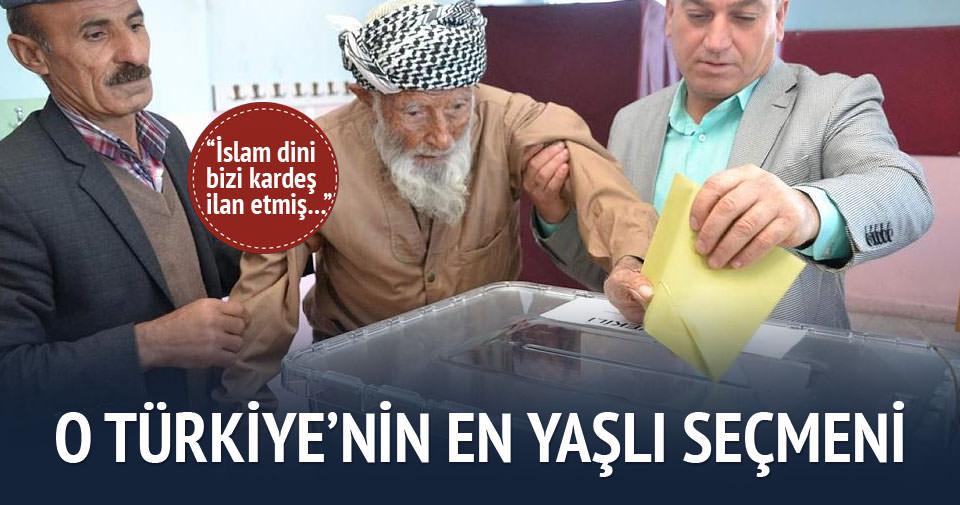 Türkiye'nin en yaşlı seçmeni sandığa gitti