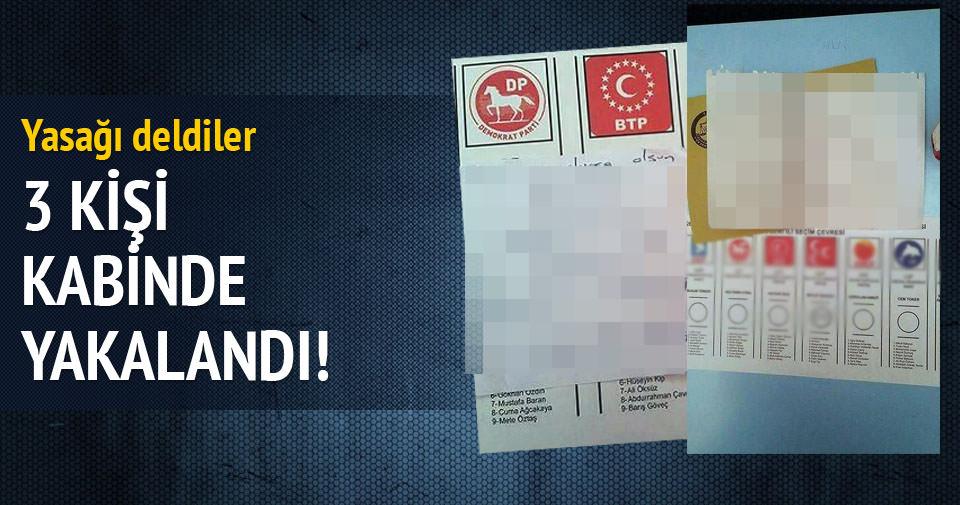 MHP'liler oy pusulasının fotoğrafını çekerken yakalandı!