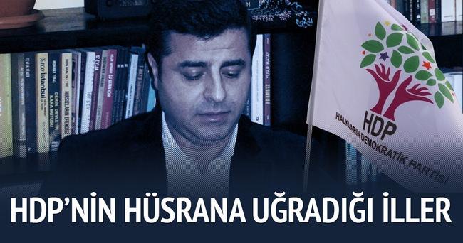 5 İl HDP'yi hüsrana uğrattı