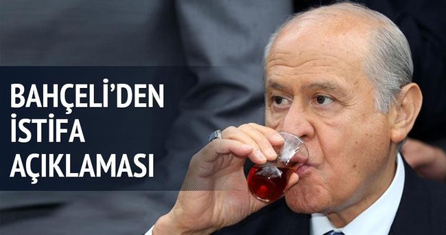 MHP lideri Bahçeli'den 'istifa' iddiasına açıklama