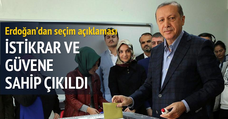 Erdoğan'dan 1 Kasım mesajı