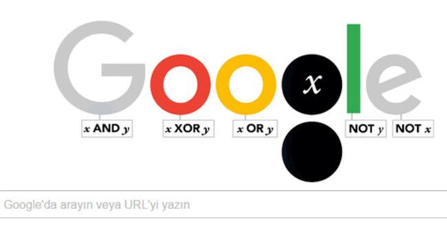 Google George Boole için doodle hazırladı