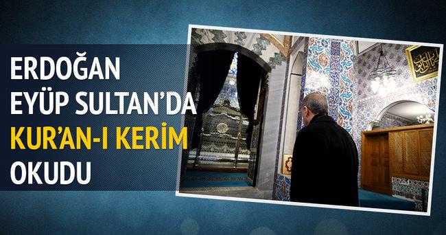 Erdoğan Eyüp Sultan'da Kur-an'ı Kerim okudu