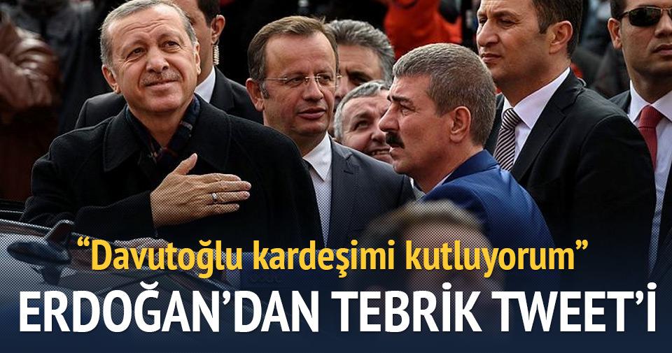 Erdoğan'dan tebrik tweeti