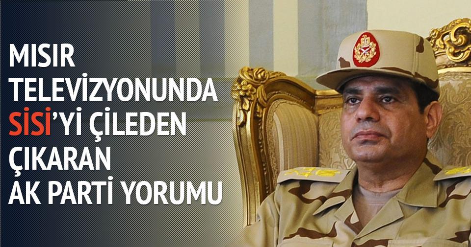 Mısır televizyonunda Sisi'yi çileden çıkaracak yorum