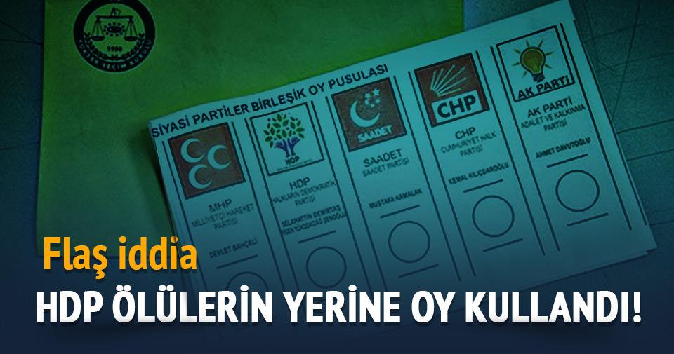 Ensarioğlu: 'HDP ölülerin yerine oy kullandı'