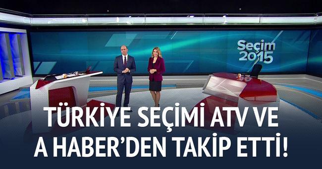 Türkiye seçimi A Haber ve ATV'den öğrendi!