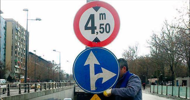 Başkente 10 ayda 11 bin yeni işaret levhası