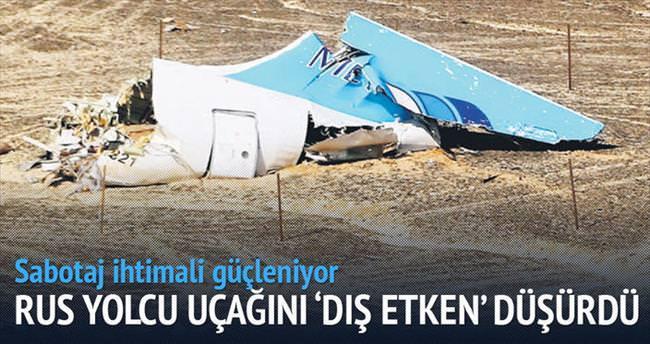 Rus yolcu uçağını 'dış etken' düşürdü